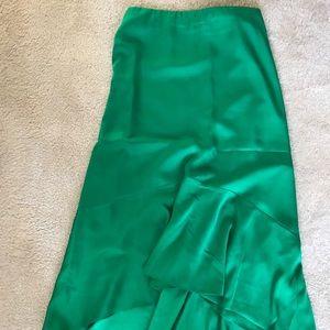 Ann Taylor long hi-low skirt